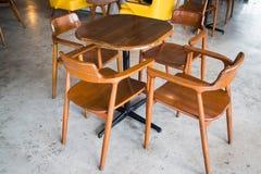 Retro interior of wooden furniture Stock Images