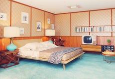 Retro interiore Immagine Stock