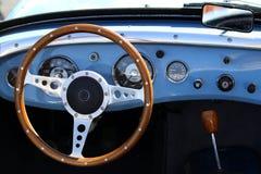 Retro interiore dell'automobile Fotografia Stock Libera da Diritti
