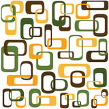 Retro interlocking squares. Retro styled interlocking squares in shades of green brown and orange Stock Image