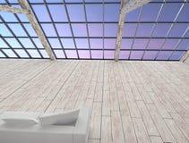 Retro interno moderno della soffitta senza gente Fotografia Stock Libera da Diritti