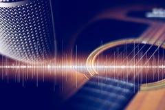 Retro intrument acustico del fondo di musica immagini stock libere da diritti