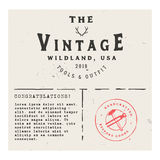 Retro invintation, greeting card with vintage logo template. Retro invitation, greeting card with vintage logo template, place for text and watermark Stock Photo