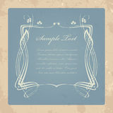 Retro invitation card Stock Image