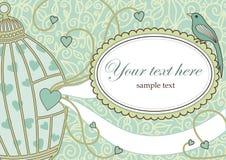 Retro Invitation Design Royalty Free Stock Image