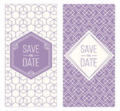 Retro invitation templates, patterned background Royalty Free Stock Images