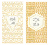 Retro invitation templates, patterned background Royalty Free Stock Image