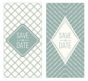 Retro invitation templates, patterned background Royalty Free Stock Photos