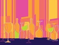 Retro invito designato al partito di cocktail Immagini Stock Libere da Diritti