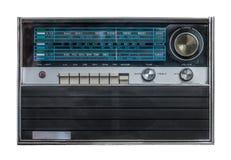 Retro Isolated Radio. Isolated Vintage Retro Silver Radio On A White Background Stock Photo