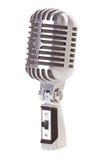 retro isolerad mikrofon Arkivfoto