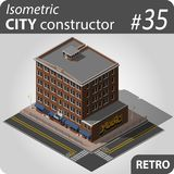Retro isometric house Stock Photography