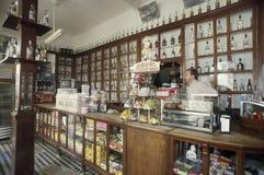 Retro Italian bar in Santa Teresa, state of Espirito Santo, Brazil. stock photography