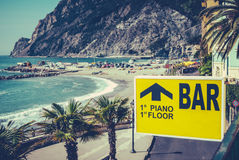 Retro Italian Beach Bar Sign Stock Image