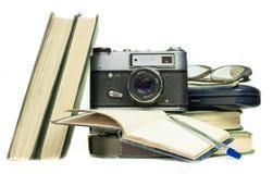 Retro items on a white background.  Stock Photo