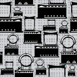 Retro järn för sömlös illustration på grå färger Royaltyfria Bilder