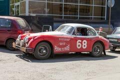 Retro jaar van autojaguar XK150 1957 Stock Afbeeldingen