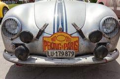 Retro jaar van autoporsche 356A 1957 Royalty-vrije Stock Afbeeldingen
