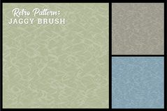 Retro jaggy brush pattern background in 3 color options. Retro jaggy brush pattern background in a desaturated color palette. Reminiscent of brush strokes Stock Photography