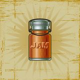 Retro Jam Jar Royalty Free Stock Images
