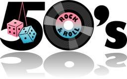 Retro Jaren '50 & Verward dobbelen/eps royalty-vrije illustratie