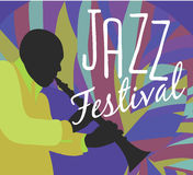 Retro Jazz festival Poster Royalty Free Stock Images