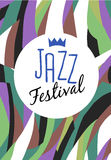 Retro Jazz festival Poster Stock Photos