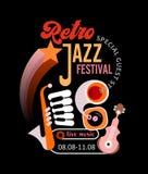 Retro Jazz Festival Poster Royalty Free Stock Image