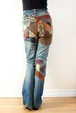 Retro jeans Stock Photo