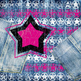 Retro jeans stars Royalty Free Stock Photo