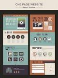 Retro jeden strony strony internetowej projekta szablon Zdjęcie Stock