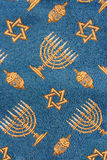 Retro Jewish synagogue tapestry textile pattern. Fragment of retro Jewish synagogue tapestry textile pattern with Hanukkah ornament useful as background Stock Image