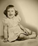 Retro Jonge Meisje van de Foto Stock Afbeelding