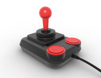 Retro joystick. On white. Digitally generated image Royalty Free Stock Images