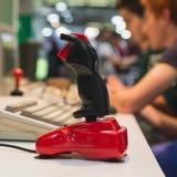 Retro joystick at Games Week 2014 in Milan, Italy Royalty Free Stock Photo