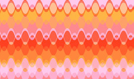 Retro Juicy pink chain waves Stock Image