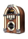 Retro Juke Box Radio. Isolated on white background Royalty Free Stock Image