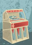 Retro jukebox. Sketch of retro jukebox on grunge background vector illustration