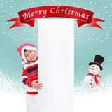 Retro jul på blå bakgrund Royaltyfri Bild