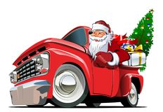 Retro juluppsamling för tecknad film Arkivbilder