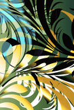 Retro jungle. Abstract retro jungle leaf tropical floral with hard shadow contrast layer Stock Image