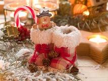 Retro kängor för jul arkivfoto