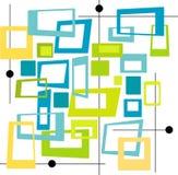 Retro- kühle Farben quadriert (Vec Stockfotografie