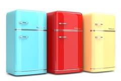 Kühlschrank Farbig Retro : Retro kühlschränke stock abbildung illustration von haus