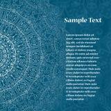 Retro kaart met mandala Uitstekende achtergrond met plaats voor tekst Royalty-vrije Stock Fotografie