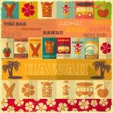 Retro Kaart van Hawaï Royalty-vrije Stock Foto's