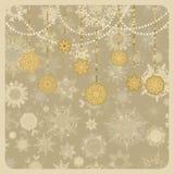 Retro kaart vector van Kerstmis (Nieuwjaar). EPS 8 Stock Afbeelding