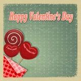 Retro kaart voor de Dag van de Valentijnskaart Royalty-vrije Stock Foto's