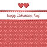 Retro kaart voor de dag van Valentine Stock Afbeelding