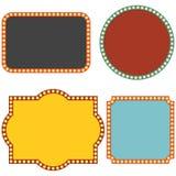 Retro kader met gloeilamp vector illustratie